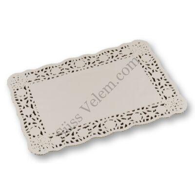Fehér téglalap alakú tortacsipke 35*25 cm 25 db
