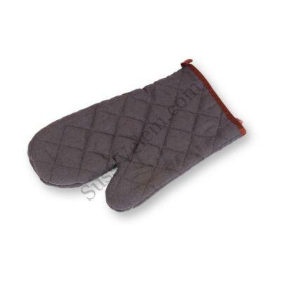 Fekete textil edényfogó kesztyű