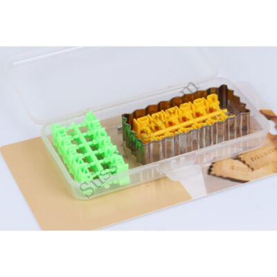 Feliratos keksz készítő szett dobozban