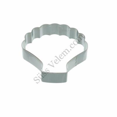 Fém Kitchen Craft kagyló alakú sütikiszúró
