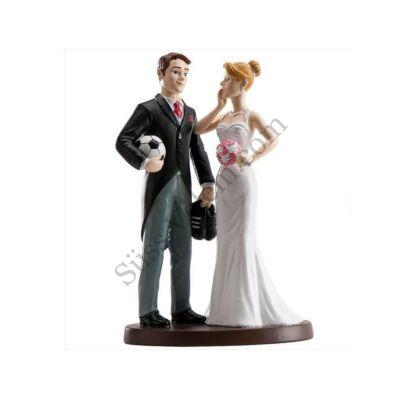 Focis nászpár esküvői tortadísz