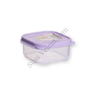 Follow Me 200 ml-es négyzet alakú tároló doboz tetővel