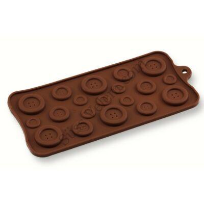 Gombok szilikon csokoládé forma