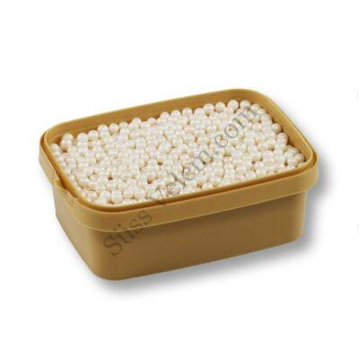 Gyöngyház fehér cukorgyöngy roppanós 20 dkg 4 mm