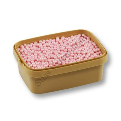 Gyöngyház rózsaszín cukorgyöngy 20 dkg 4 mm roppanós