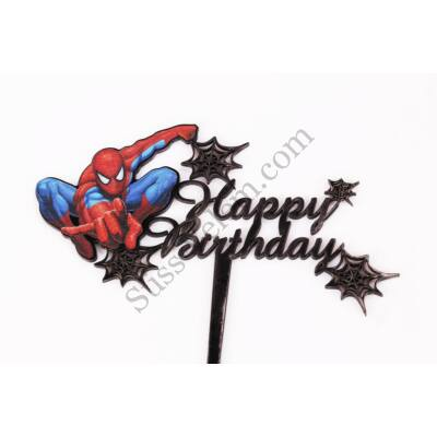 Happy Birthday Pókember tortadísz beszúró