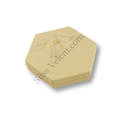 Hatszögletű bonbon doboz masnival