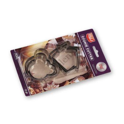 Házikó és macifej alakú 6 részes fém sütikiszúró készlet