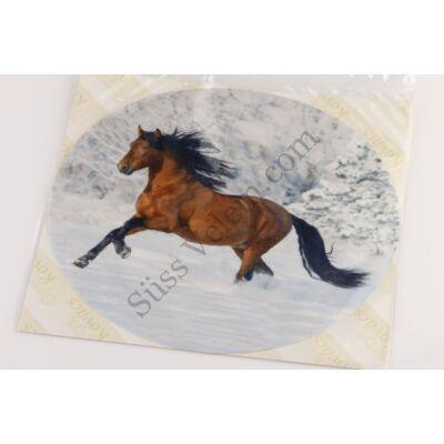 Hóban futó ló tortaostya
