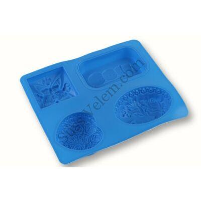 Hóemberes és lepkés szilikon szappan forma