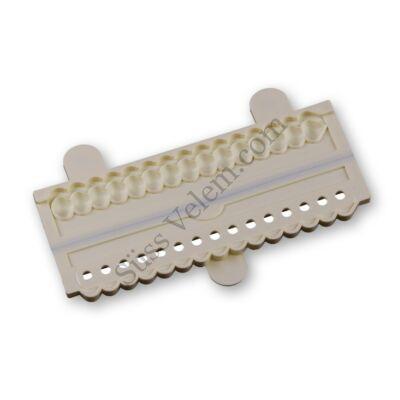 Kagyló alakú fondant gyöngysor készítő