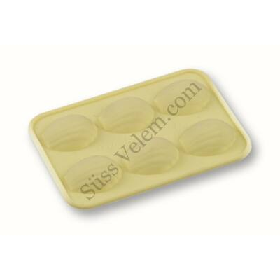 Kagyló alakú szilikon csokoládé forma 6 adagos