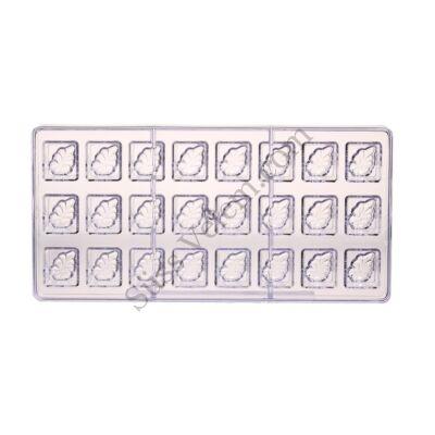 Kakaóbab mintás négyzet alakú polikarbonát bonbon forma