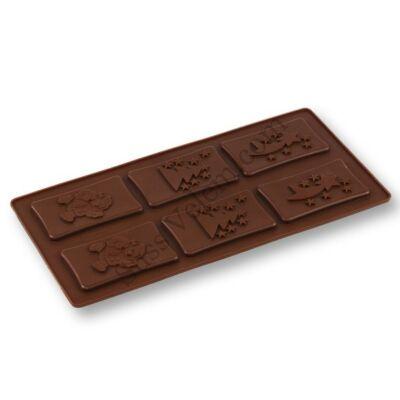 Karácsonyi csoki öntőforma