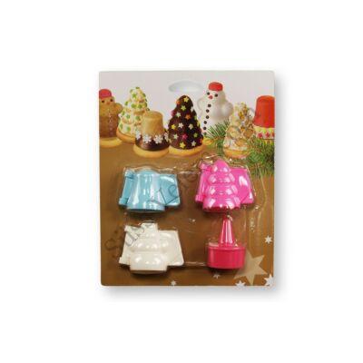 Karácsonyi sütemény formázó készlet