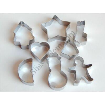 8 részes fém karácsonyi kiszúróforma szett
