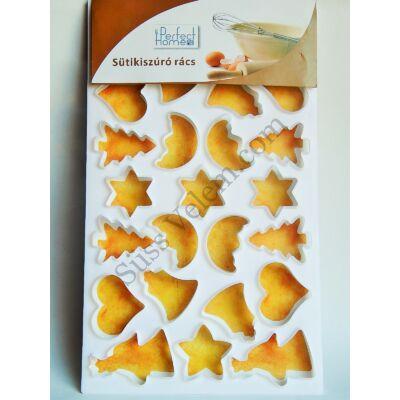Sütemény kiszúró rács karácsonyi mintákkal