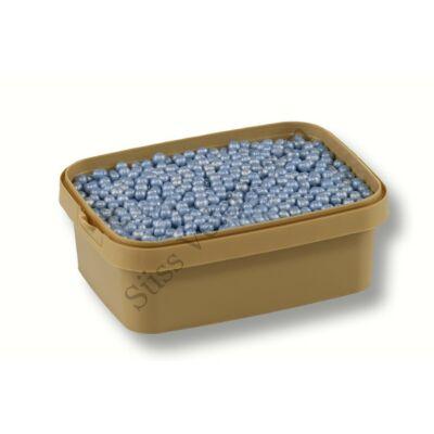 Gyöngyház kék cukorgyöngy roppanós 20 dkg 4 mm