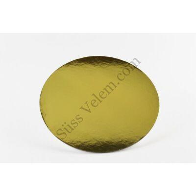 21 cm-es kerek arany színű tortakarton