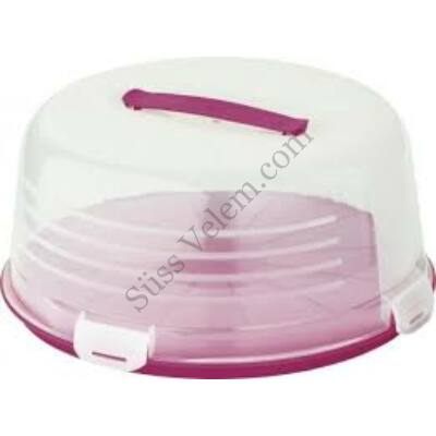 Kerek Cake Box Curver tortatartó