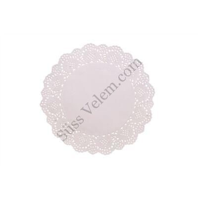 15 db 26,5 cm-es kerek fehér tortacsipke