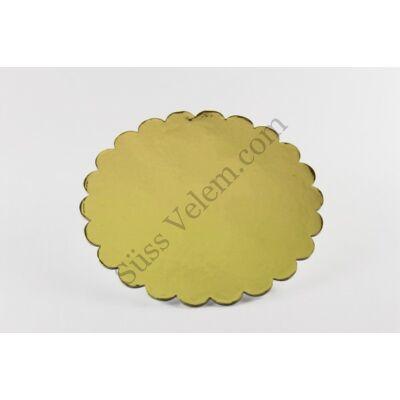 Fodros szélű 35 cm-es arany színű tortakarton