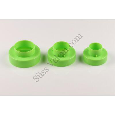 Kétoldalú műanyag kör alakú sütikiszúró készlet 3 részes
