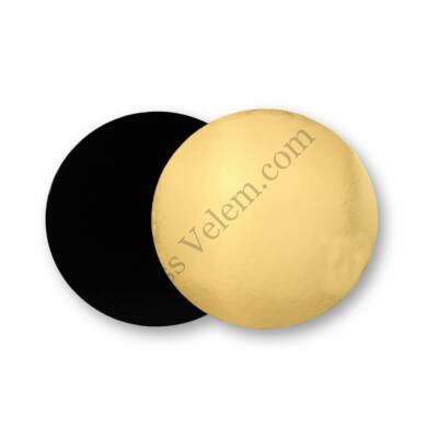 Kétoldalú arany-fekete tortaalátét 20 cm