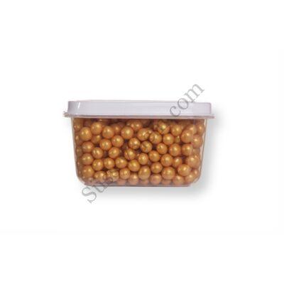 Kis kiszerelésű (40g) arany színű cukorgyöngy
