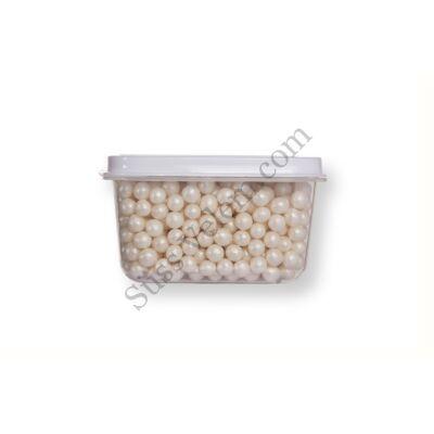 Kis kiszerelésű (40g) gyöngyház fehér cukorgyöngy