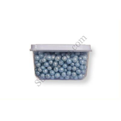 Kis kiszerelésű (40g) gyöngyház kék cukorgyöngy