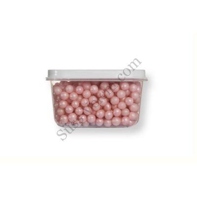 Kis kiszerelésű (40g) gyöngyház rózsaszín cukorgyöngy