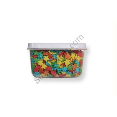 Kis kiszerelésű (40g) színes csillag alakú cukorkonfetti