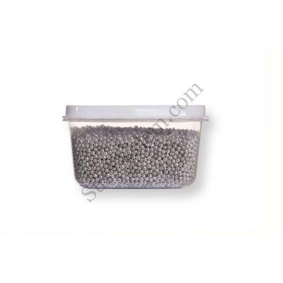 Kis kiszerelésű (50g) ezüst színű apró cukorgyöngy