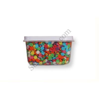 Kis kiszerelésű (50g) színes korong cukorkonfetti