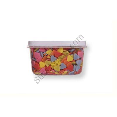 Kis kiszerelésű (50g) színes szív alakú cukorkonfetti