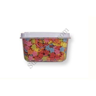 Kis kiszerelésű (50g) színes virág alakú cukorkonfetti