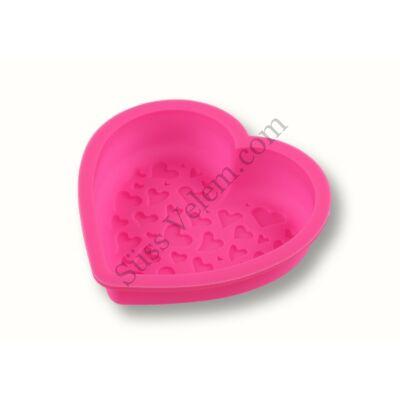Kis méretű szilikon szív sütőforma