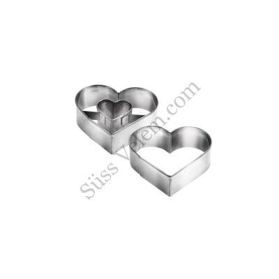 Kis méretű szív alakú 2 részes linzer kiszúró Tescoma Delicia