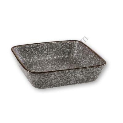 Kőhatású kerámia kis méretű szögletes sütőtál