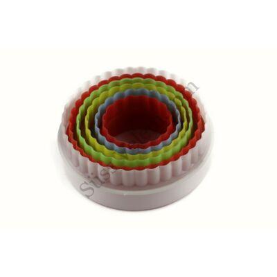 Kör műanyag sütikiszúró készlet 6 db-os