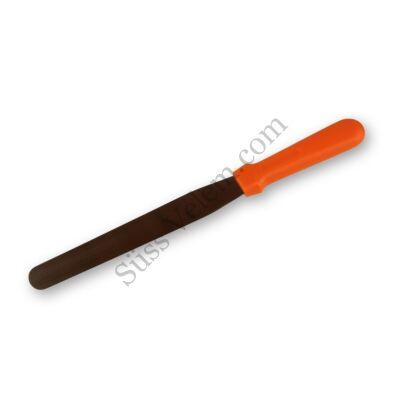 Közepes méretű színes nyelű fém spatula (kenőkés)