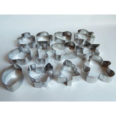 Sütemény kiszúró készlet különleges formák karikára fűzve fém