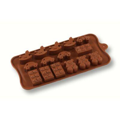 Lego és játékok bonbon forma 4 -féle mintával