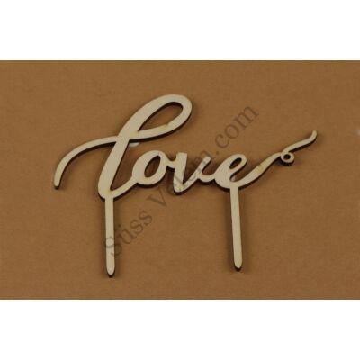 Love fa beszúró tortadísz