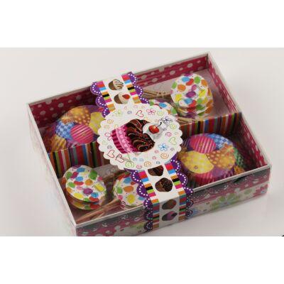 Lufi mintás cupcake papír lufis beszúrókkal