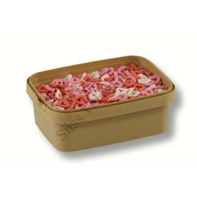 Lyukas szív cukorkonfetti tortadekor