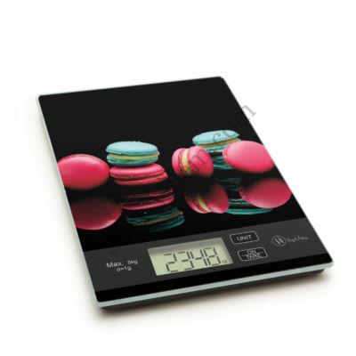 Macaron mintás digitális konyhai mérleg