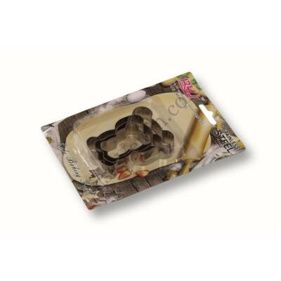 Maci alakú fém sütikiszúró készlet 3 részes