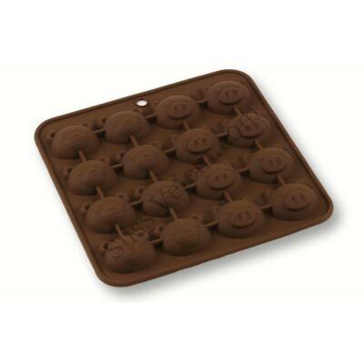 Malac és maci alakú csokoládé forma